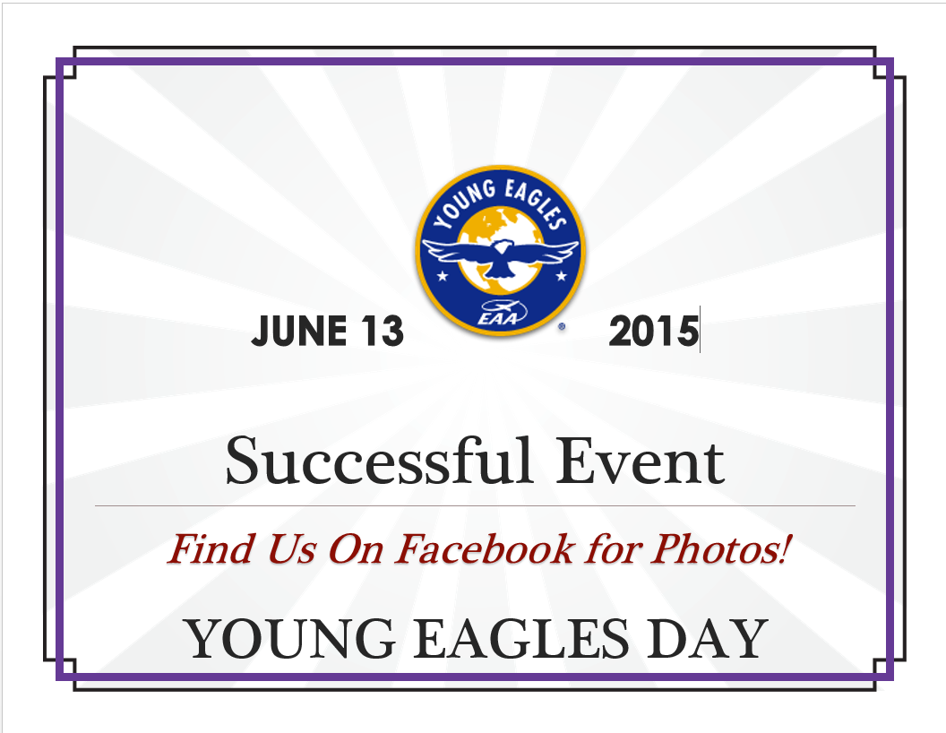 Young Eagles Event Update